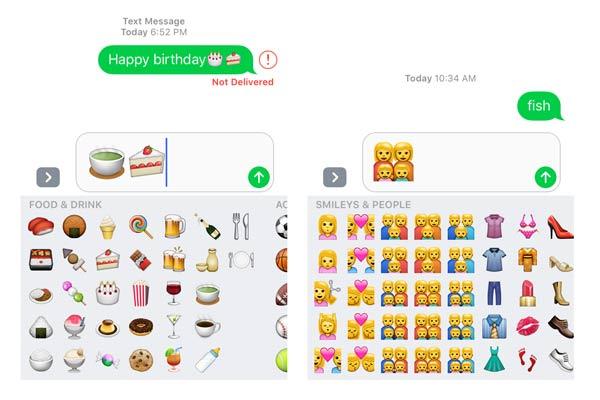 Emojis 3x mayores iOS 10