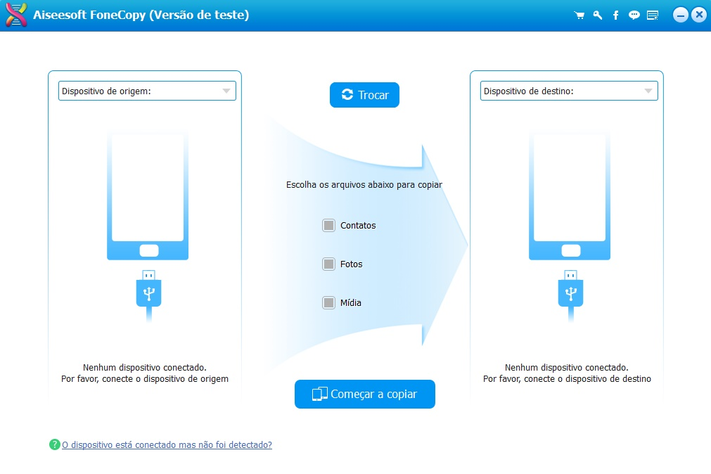 Migrar dispositivo iOS FoneCopy