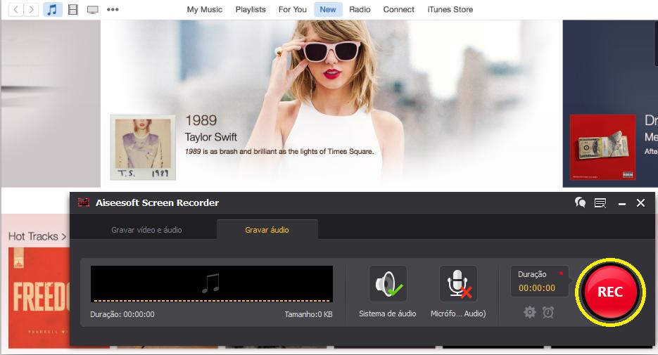 Grabar sus canciones haciendo clic en REC