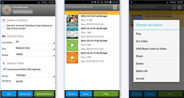 Grabar llamadas Android Screencast