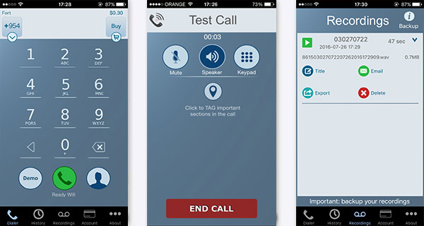 Grabar llamadas iPhone Call Recorder