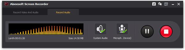 Gravar músicas Screen Recorder passo 2