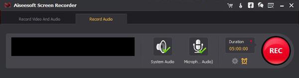 Passo 3 Screen recorder gravar áudio