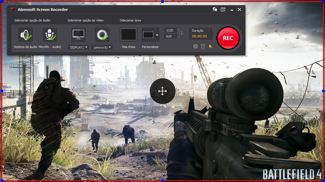 Abrir el Battlefield 4 y hacer clic en el botón REC para comenzar a grabar