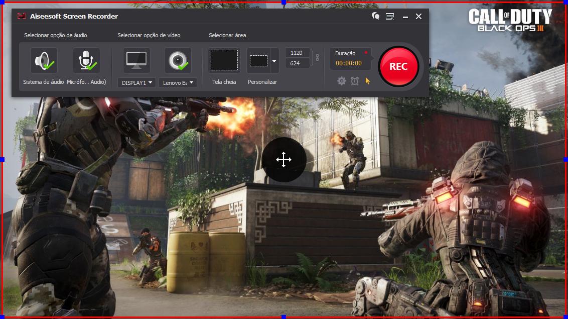 Abrir el Call of Duty: Black Ops 3 y hacer clic en el botón REC para comenzar a grabar