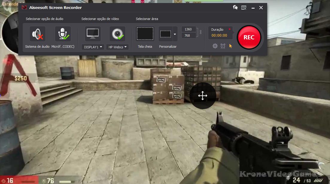 Abrir el CS:GO y hacer clic en el botón REC para comenzar a grabar