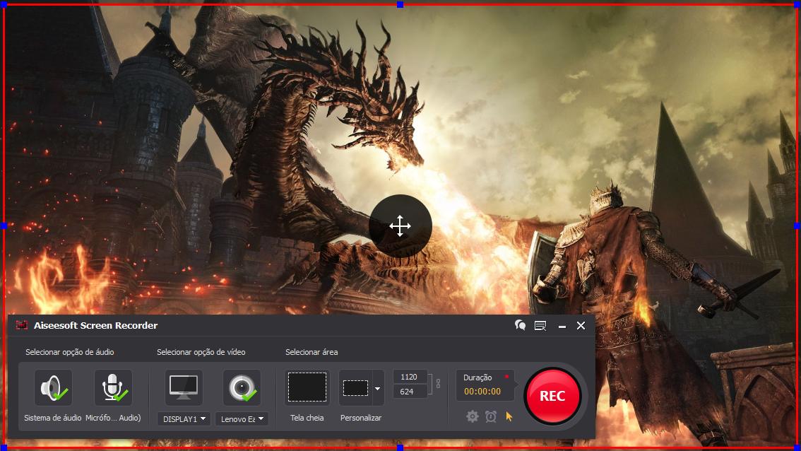 Abrir el Dark Souls 3 y hacer clic en el botón REC para comenzar a grabar