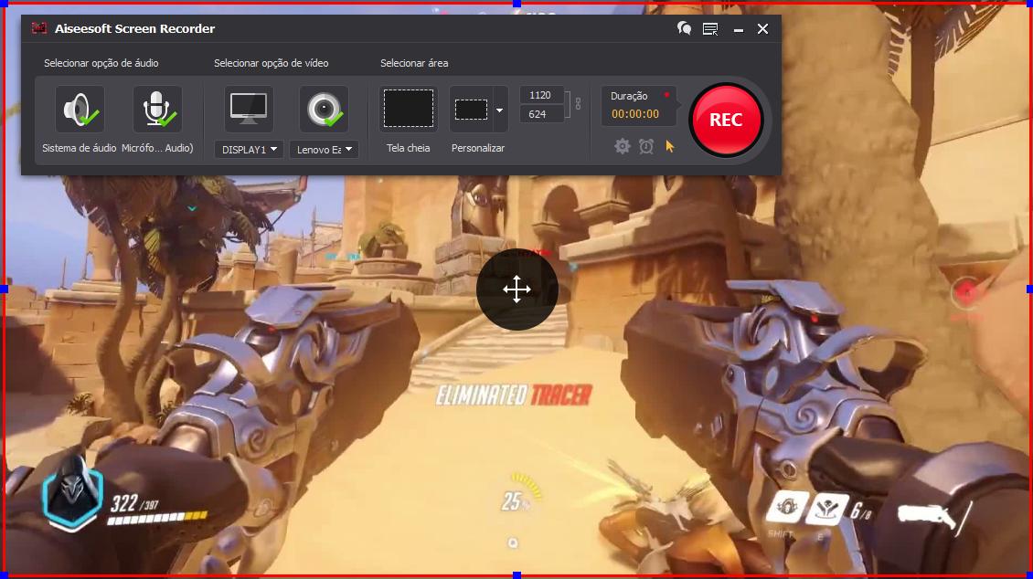 Abrir el Overwatch y hacer clic en el botón REC para comenzar a grabar
