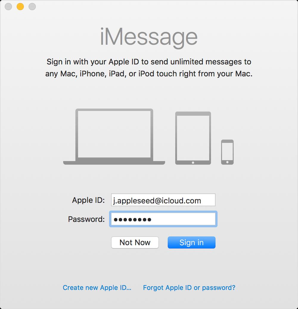 Configurar iMessage
