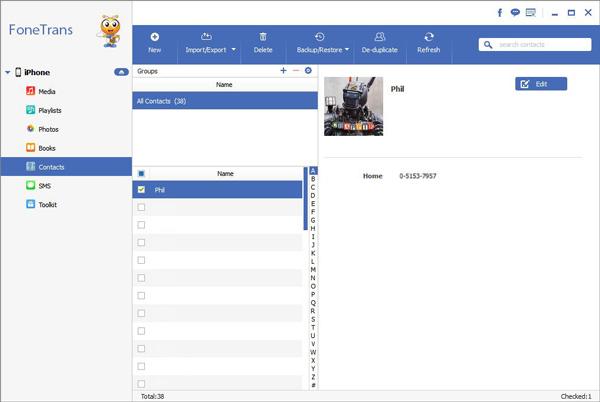Exportar contatos FoneTrans gmail passo 2