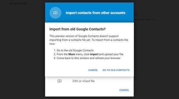 Importar contatos gmail passo 2