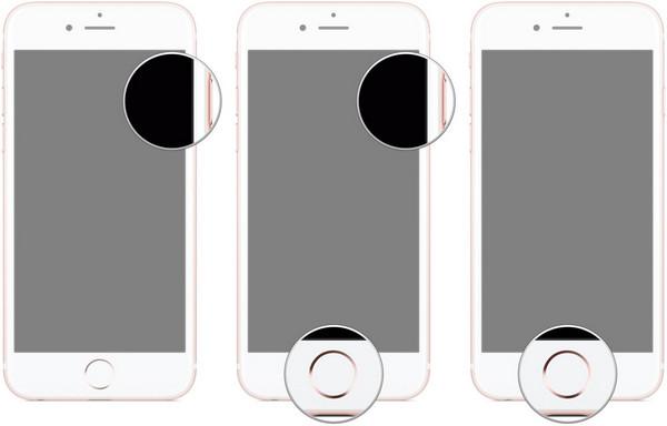 iPhone DFU botões