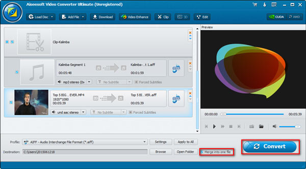 Paso 4 combinando audios Video Converter Ultimate