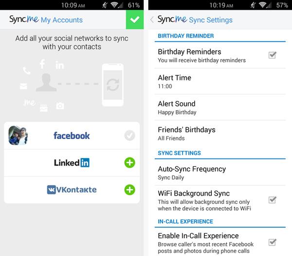 Programa sincronizar contactos Android Sync.ME