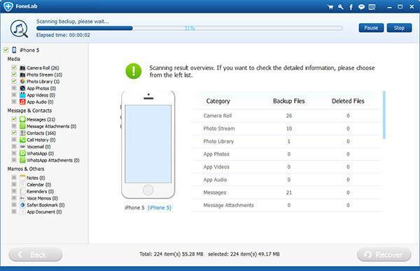Restaurar copia de seguridad FoneLab paso 5