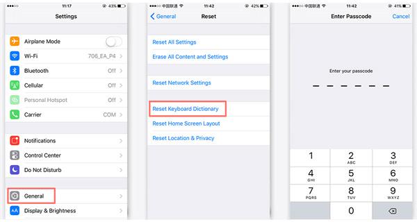Resetar corretor automático iPhone