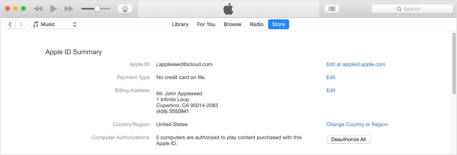 Resumo Apple ID