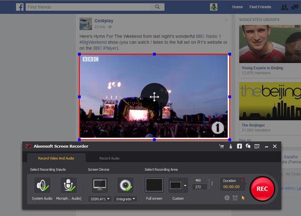Ajustar tela Screen Recorder