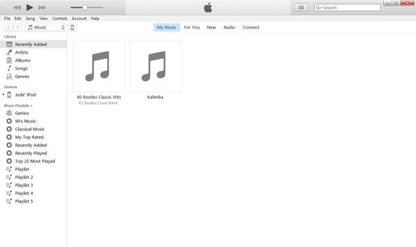 Sincronizar músicas iTunes passo 1