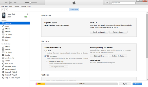 Sincronizar músicas iTunes passo 2