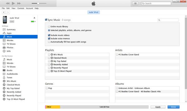 Sincronizar músicas iTunes passo 4