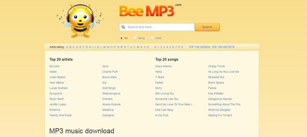 Sites baixar músicas BeeMP3