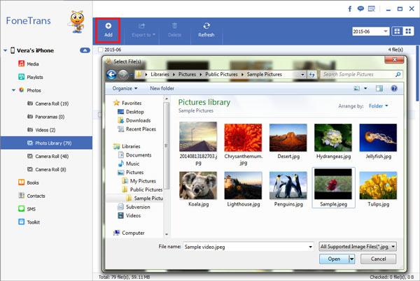 Transferir fotos Aiseesoft FoneTrans paso 2