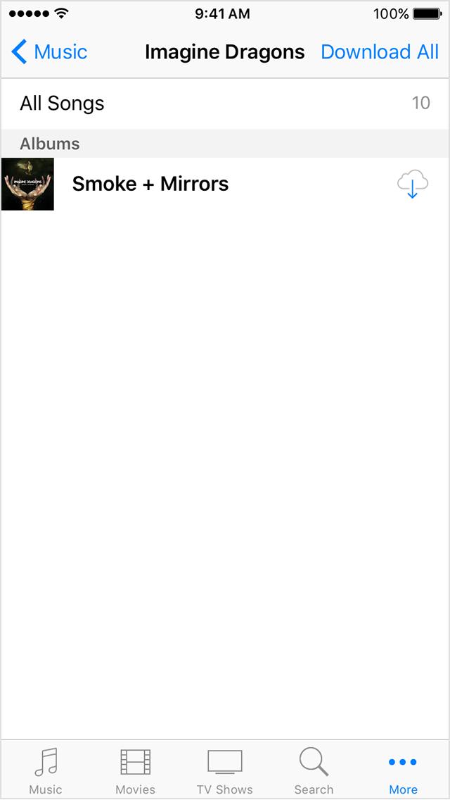 Volver a descargar canciones iOS