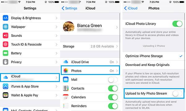Backup automático fotos iCloud