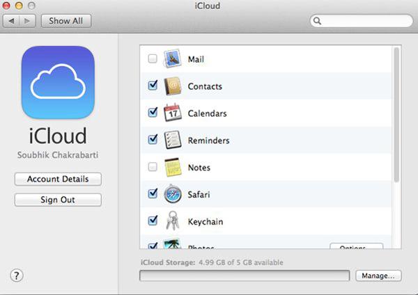 Backup fotos Mac para iCloud passo 2