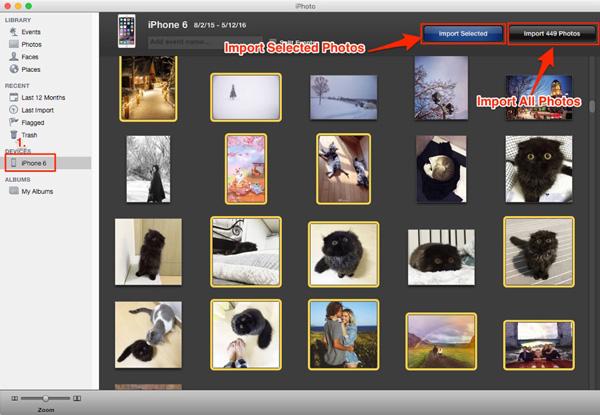 Baixar fotos iPhoto Mac
