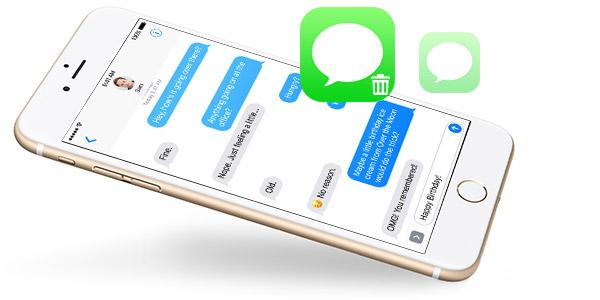 Borrar mensajes texto iPhone