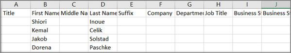Importar contactos Outlook Excel