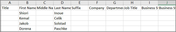 Importar contatos Outlook Excel