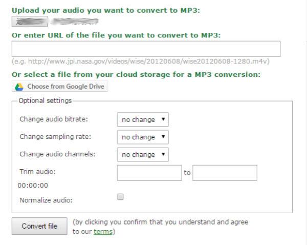 Converter AMR MP3 online
