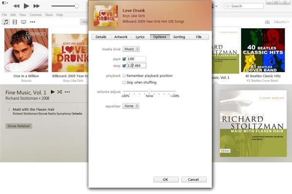 Cortar música ringtone iTunes