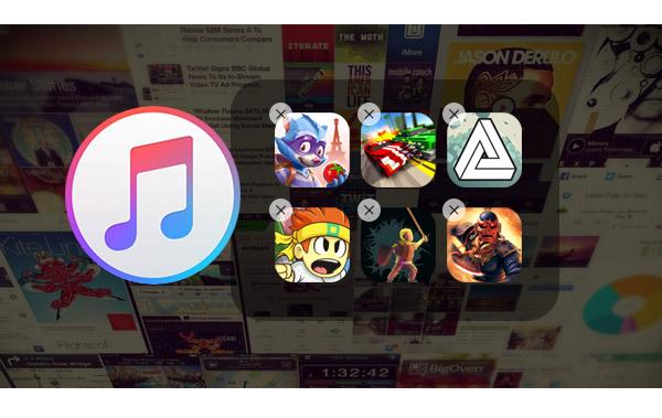 Deletar apps iTunes