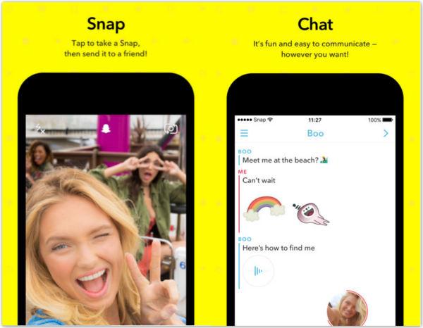 Snapchat para iPhone