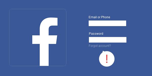 Esqueceu senha Facebook