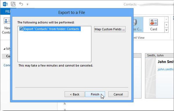 Exportar Outlook 2013 passo 8
