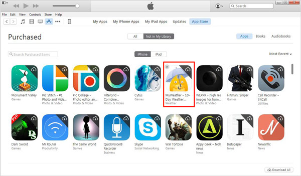 Eliminar apps iTunes paso 5