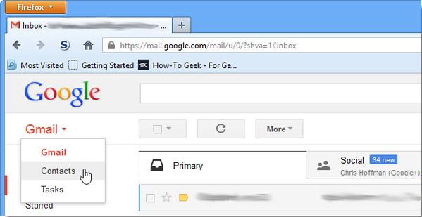 Importar contactos Gmail