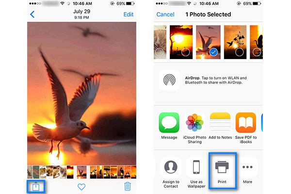 Imprimir iPhone AirPrint passo 2