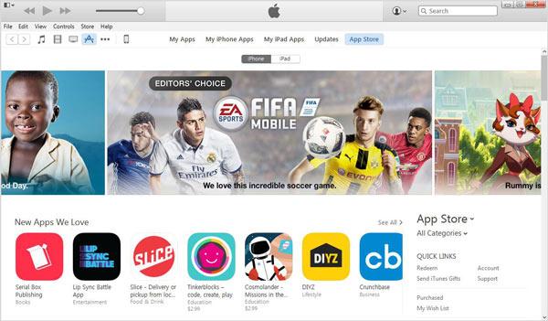 Deletar apps iTunes passo 1