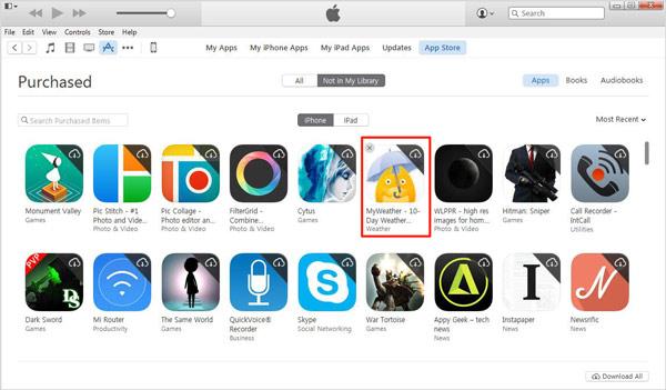 Deletar apps iTunes passo 5