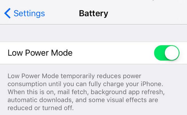 Modo economia bateria iPhone