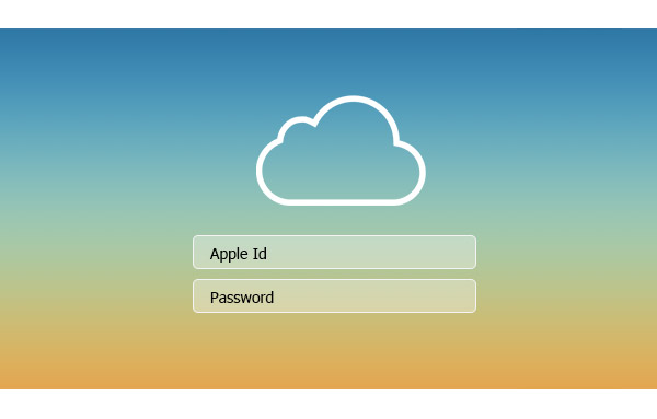 Problema tela login iCloud