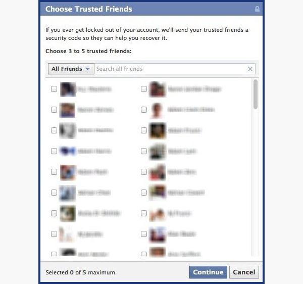 Método recuperar contraseña Facebook
