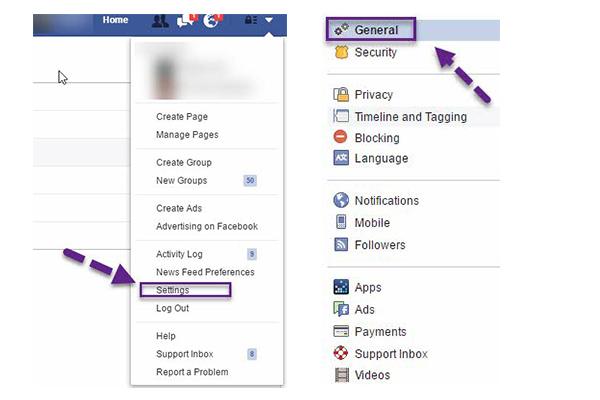 Resetar senha facebook passo 1
