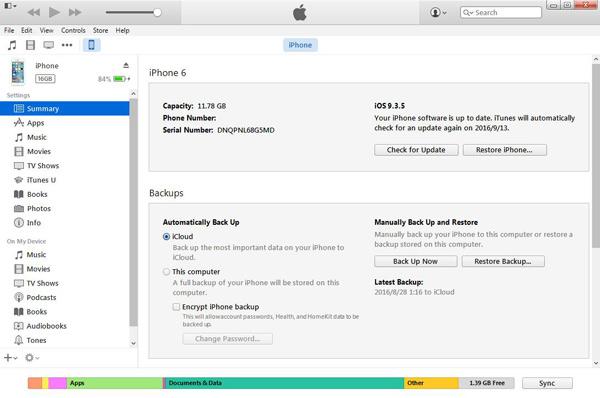 Restaurar iPhone com o iTunes